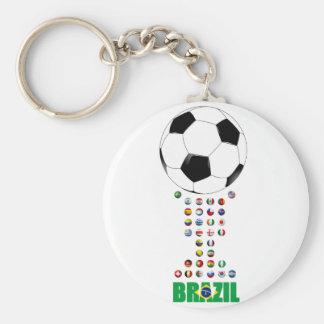 Brazil Soccer 3024 Keychain