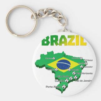 Brazil Soccer  3307 Keychain