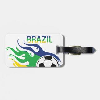 Brazil Soccer Ball Luggage Tag