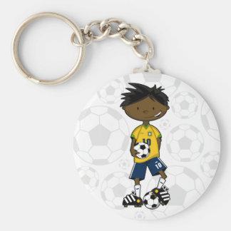 Brazil Soccer Boy Keychain