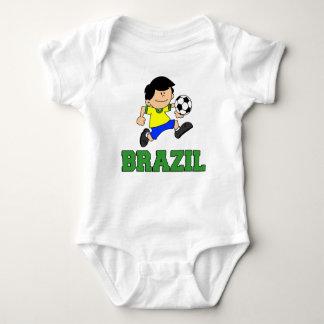 Brazil Soccer Cartoon Baby Bodysuit