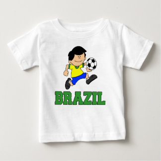 Brazil Soccer Cartoon Baby T-Shirt