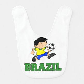 Brazil Soccer Cartoon Bib