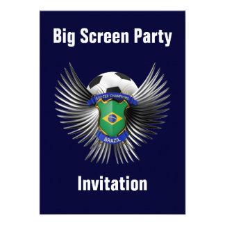 Brazil Soccer Champions Custom Invitation