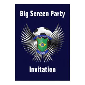 "Brazil Soccer Champions 5"" X 7"" Invitation Card"