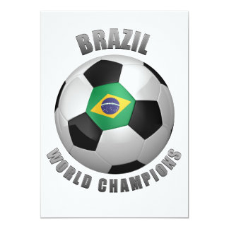 BRAZIL SOCCER CHAMPIONS PERSONALIZED ANNOUNCEMENT