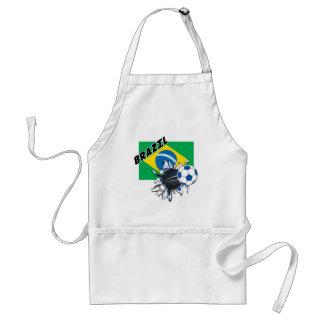 Brazil Soccer Gear Adult Apron