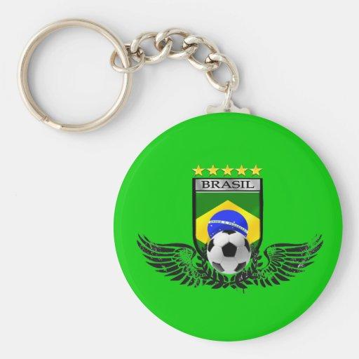 Brazil soccer shield for Brasileiro futebol fas Keychain