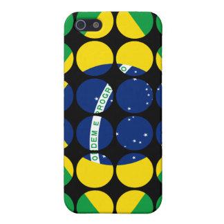 Brazil Stylish Girly Chic Polka Dot Brazilian Flag iPhone 5 Cover