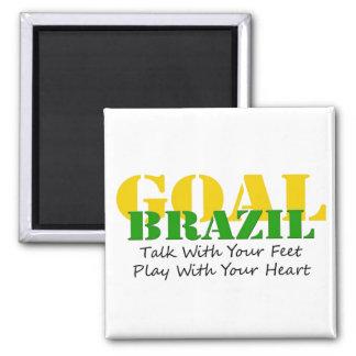 Brazil - Talk Feet Play Heart Refrigerator Magnet