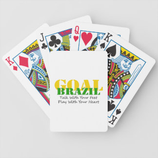 Brazil - Talk Feet Play Heart Poker Deck