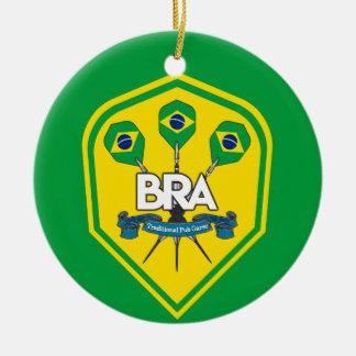 Brazil Traditional Pub Games Ceramic Ornament