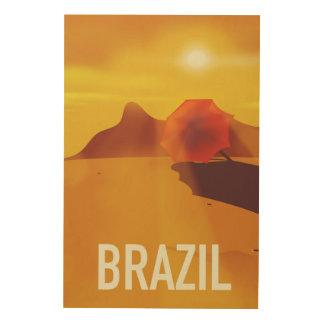 Brazil travel poster