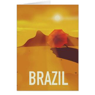 Brazil travel poster card
