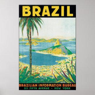 Brazil Vintage Travel Poster