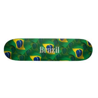 Brazil Waving Flag Skate Board