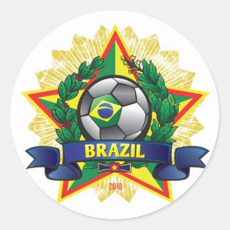 Brazil World Cup Soccer Round Sticker