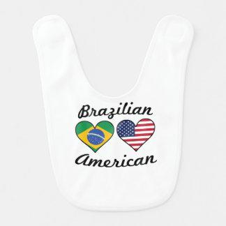 Brazilian American Flag Hearts Bib