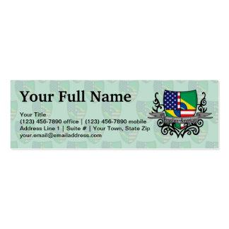 Brazilian-American Shield Flag Business Card