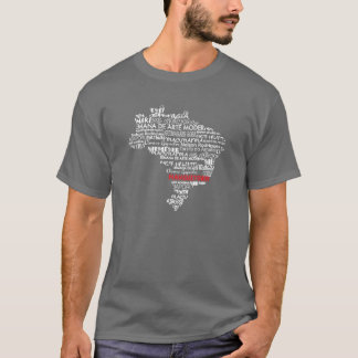 Brazilian Artists &Culture Map T-Shirt