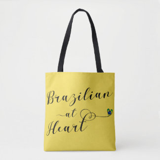 Brazilian At Heart Grocery Bag, Brazil Tote Bag