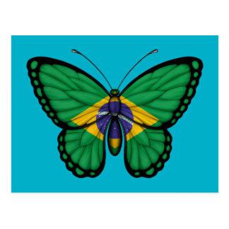 Brazilian Butterfly Flag Postcard
