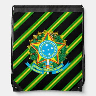 Brazilian Coat of arms Drawstring Bag