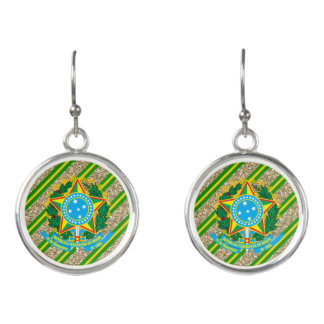 Brazilian Coat of arms Earrings