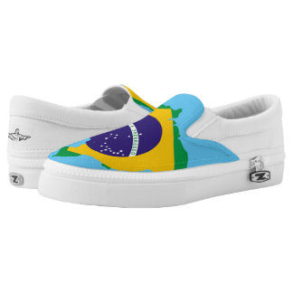 Brazilian country flag slip on shoes