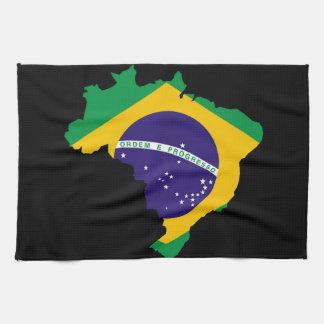 Brazilian country flag tea towel