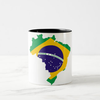 Brazilian country Two-Tone coffee mug