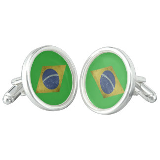 Brazilian diamond cuff links