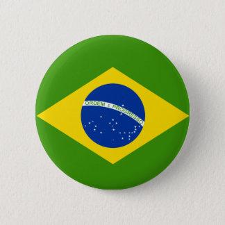 Brazilian Flag 6 Cm Round Badge