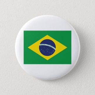 Brazilian Flag. 6 Cm Round Badge