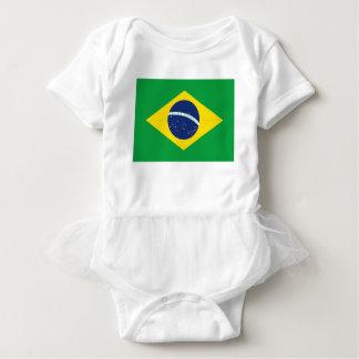 Brazilian flag baby bodysuit