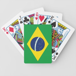 Brazilian flag bicycle playing cards