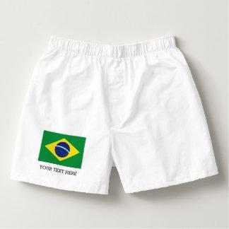 Brazilian flag boxer shorts underwear for Brasil Boxers