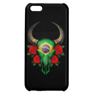 Brazilian Flag Bull Skull with Red Roses iPhone 5C Case