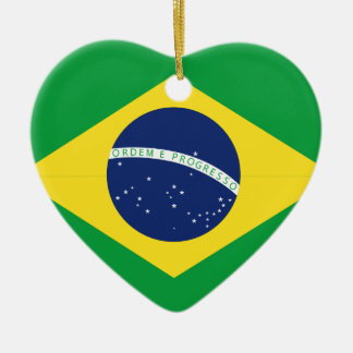 Brazilian flag ceramic ornament