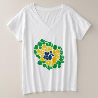 Brazilian Flag Flower Power Women's Shirt