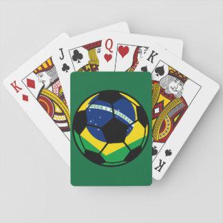 Brazilian Flag Football Playing Cards