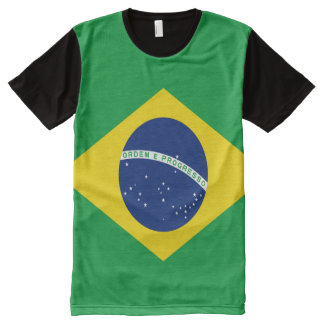 Brazilian Flag full All-Over Print T-Shirt