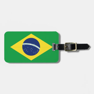 Brazilian flag luggage tag