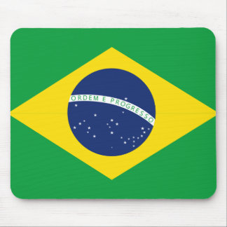 Brazilian flag mouse pad