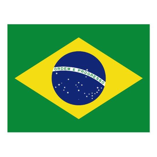 Brazilian flag of Brazil custom postcards