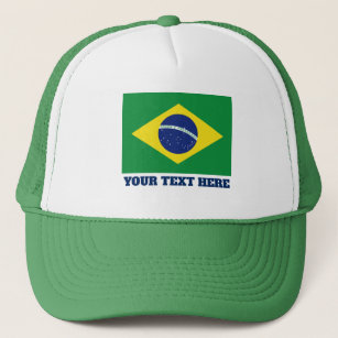ef00acc78c0 Brazilian flag of Brazil custom trucker hat