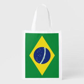 Brazilian flag of Brazil grocery shopping bag