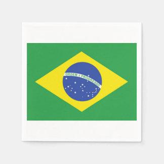 Brazilian Flag Paper Napkins