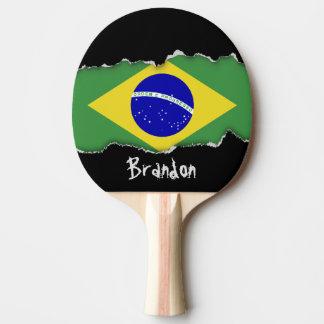Brazilian Flag Ping Pong Paddle