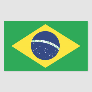 Brazilian flag rectangular sticker